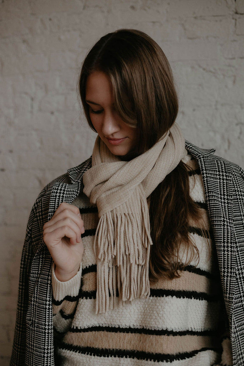 Stocking Stuffer :: Mimi Fringed Wrap Scarf (O+P)
