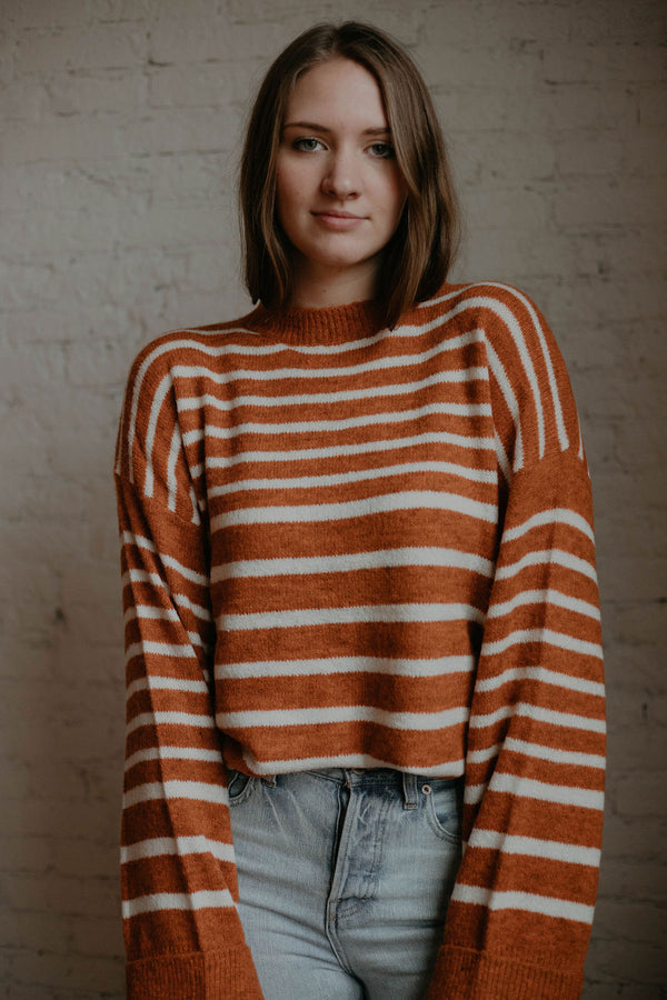 Trisha Sweater (O+P) - rust