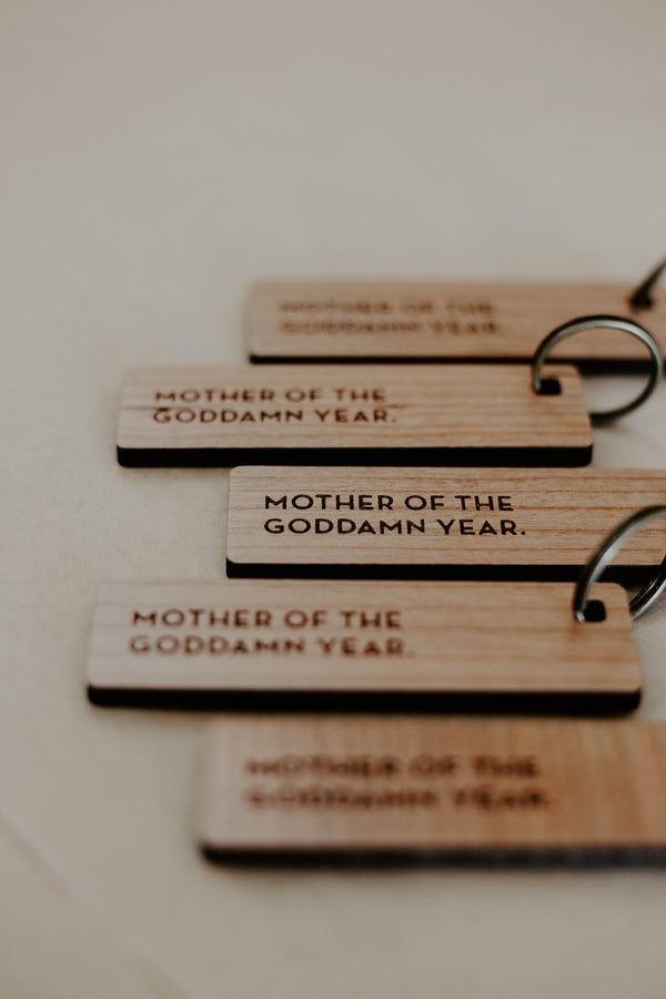 Mother (or) Father of the Year Key Tag