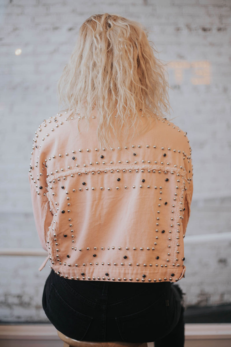 Tell Me About It, STUD - Pink Denim Jacket