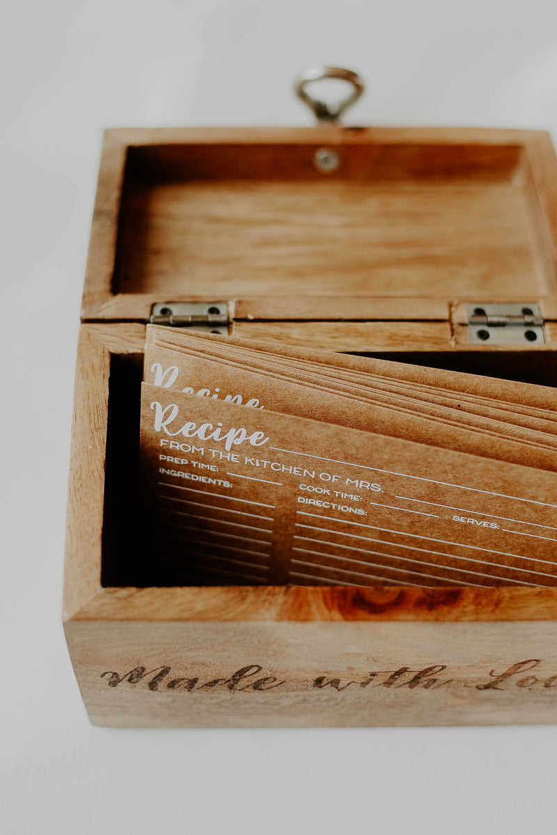 Made With Love Recipe Box