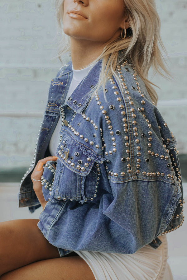 Dreamer Studded Denim Jacket