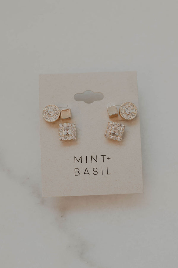 Sagitta Stud Earring Set