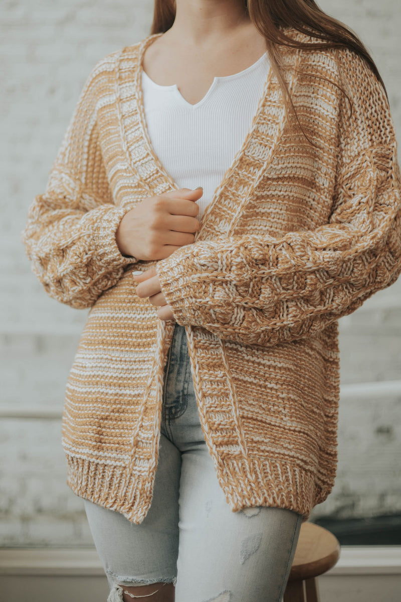 Dijon Two Tone Cardigan