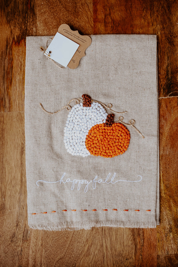 Happy Fall Knit Towel