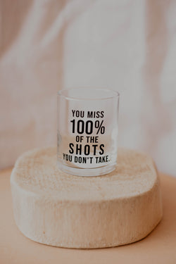 100% of the Shots Shot Glass