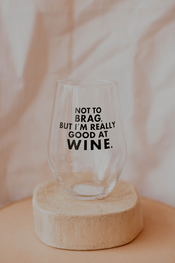 Really Good at Wine Wine Glass