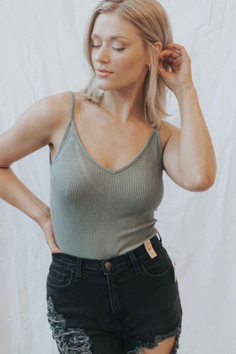Nikki Ribbed Bodysuit - 3 colors!