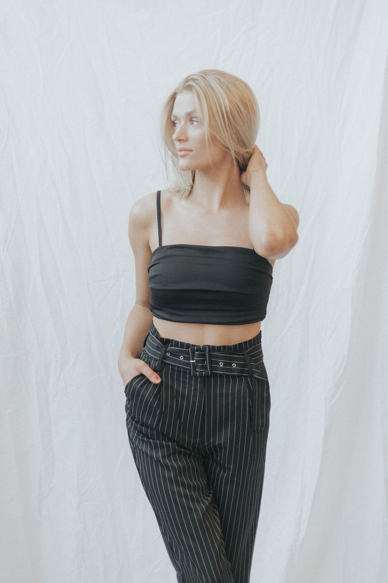 Germaine Pleated Crop Top