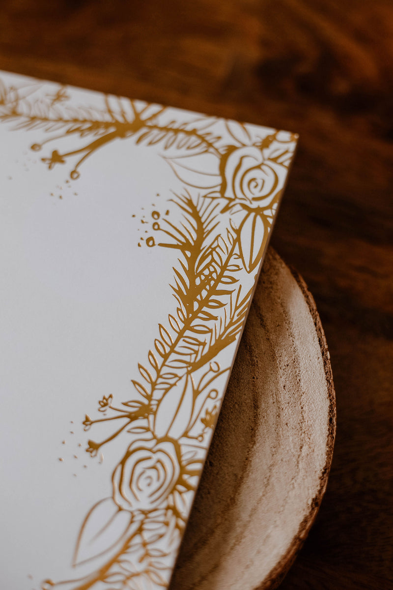Gold Foil Notepad