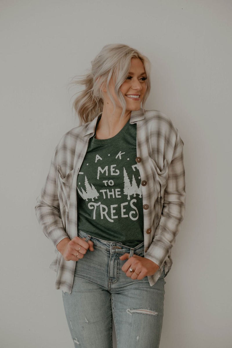 Take Me To The Trees Tee - size small only