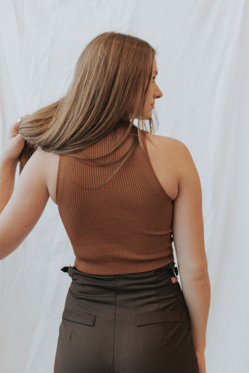 Eris Mock Neck Crop Top - 2 colors!