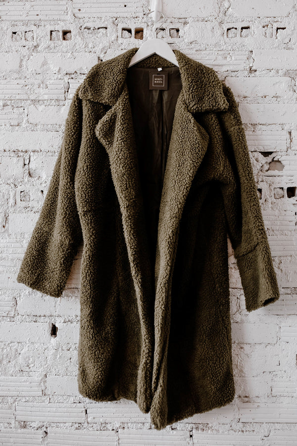 SIZE XL ONLY - Teddy Coat