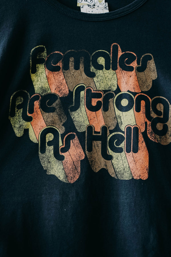 Females are Strong as Hell Bell Sleeve