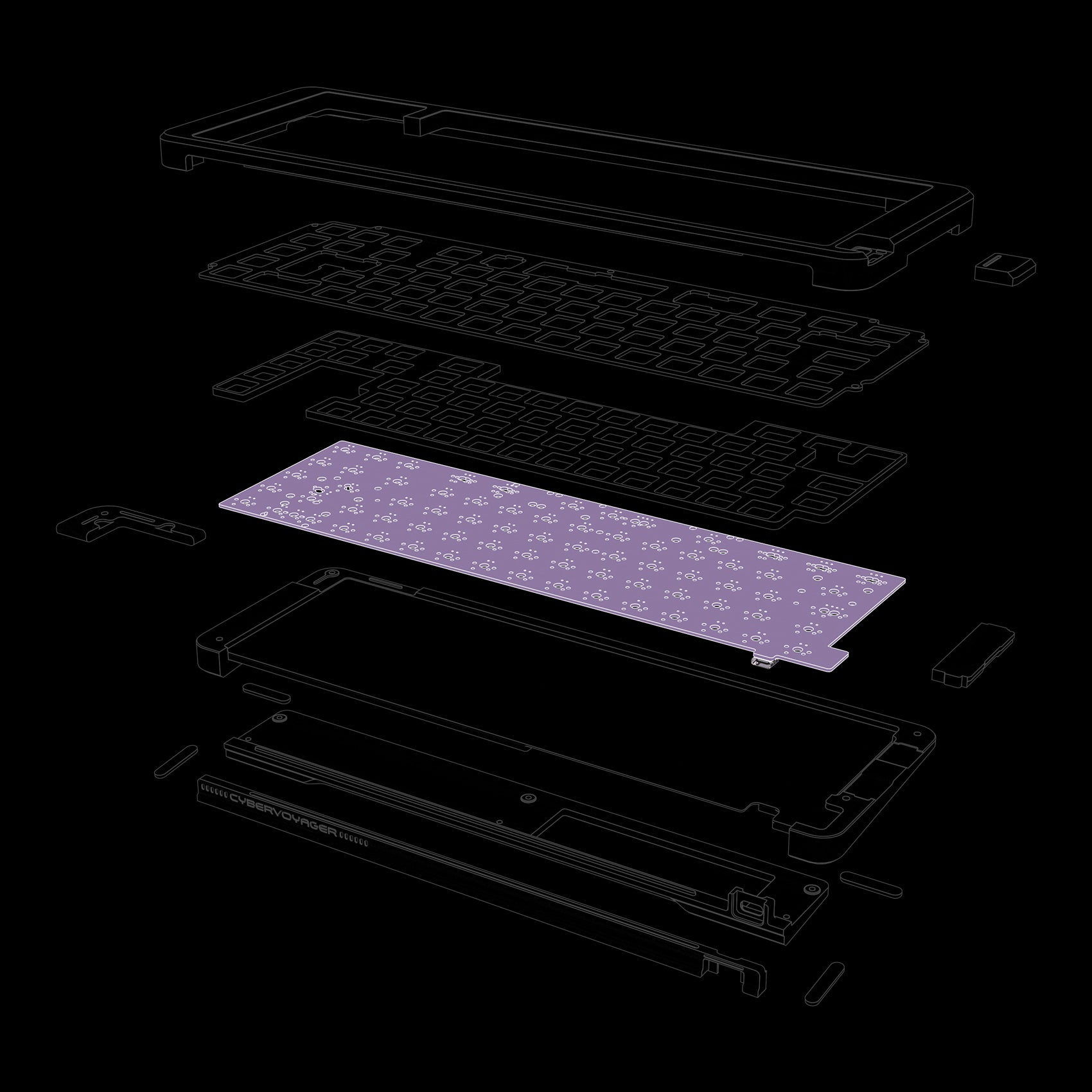 [GB] Extras of Space65:CyberVoyager (PCBs, Pads, etc.)