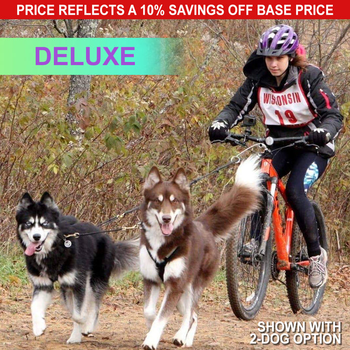 Deluxe Bikejor Package (1-Dog with 2-Dog Option)