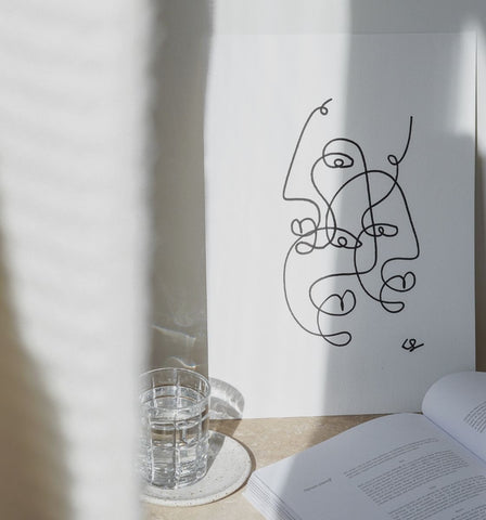 One Line Picasso Inspired Painting