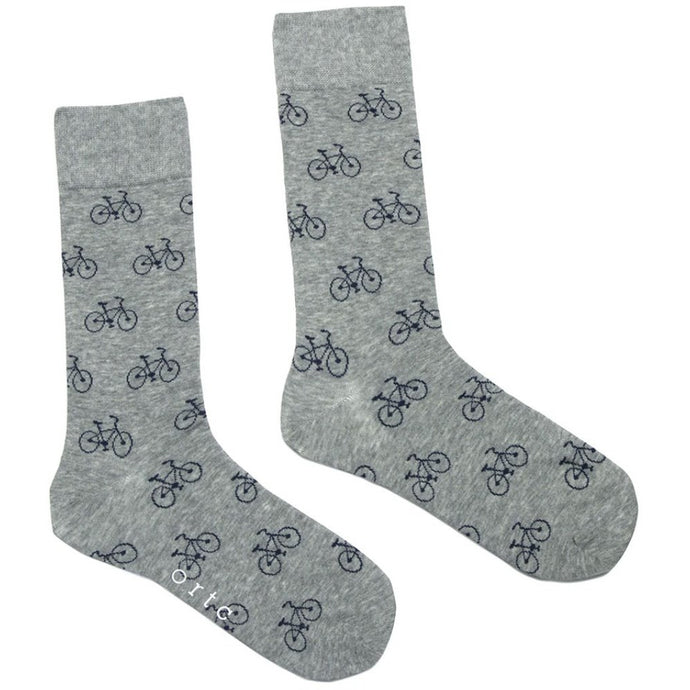 Grey Bicycles Socks