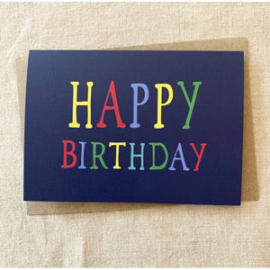 Blue Rainbow Birthday Card