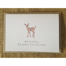 Load image into Gallery viewer, Welcome Oh Deer Little One Card