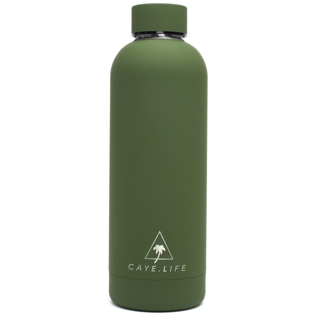 Galapagos - 750ml Water Bottle - Matte Green