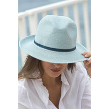Load image into Gallery viewer, Foldable Borsalino Hat - Celeste Blue