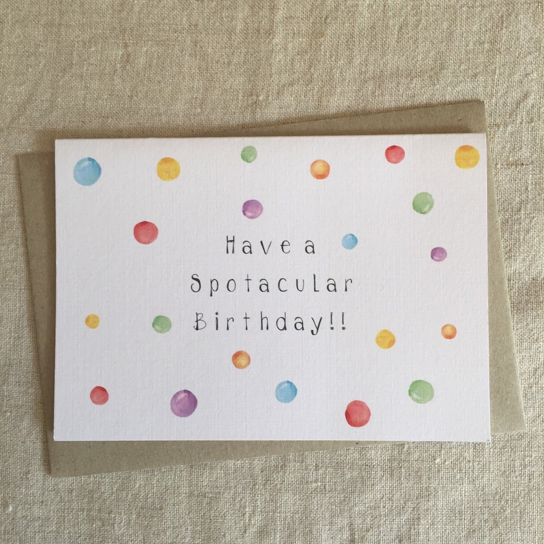 Spoctacular Birthday Card