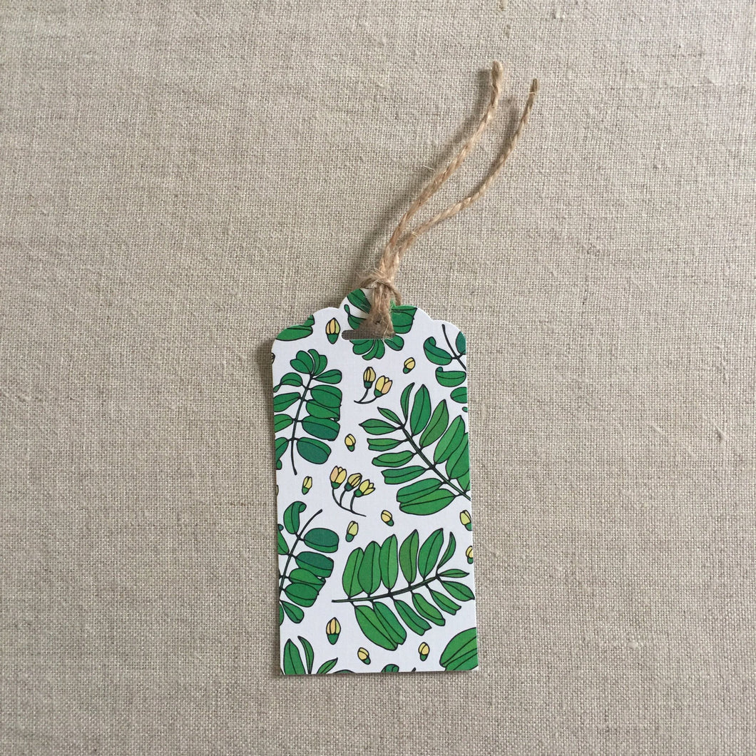 Green Leaf Gift Tag