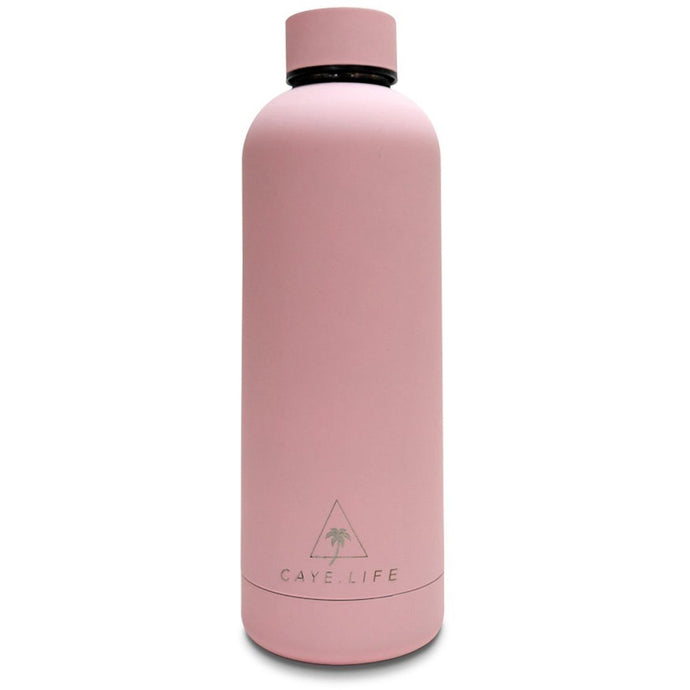 Flamingo - 750ml Water Bottle - Matte Pink