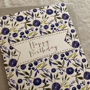 Birthday Blueberry Card