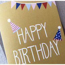 Load image into Gallery viewer, Party Hats Birthday Card