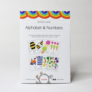 Kids Flash Cards - Alphabet & Numbers