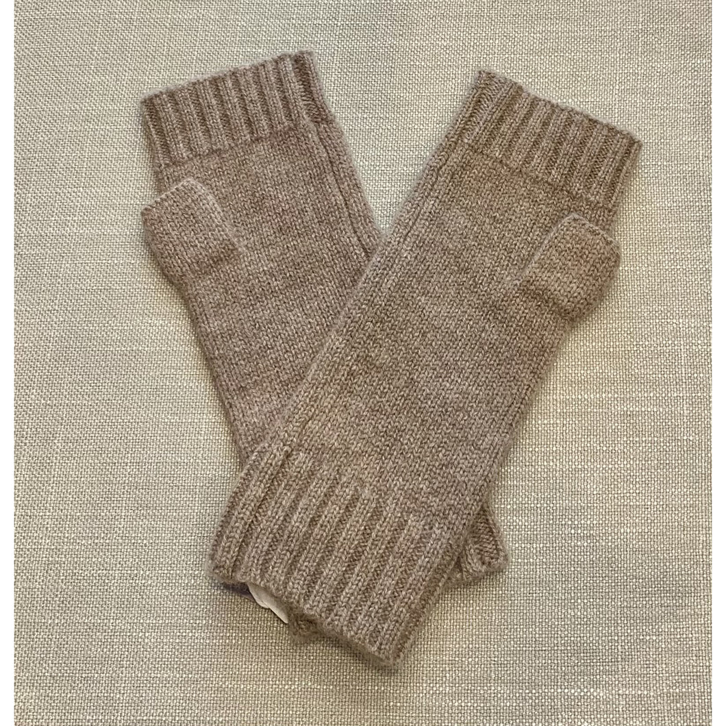 Gotta Hand It To You Pure Cashmere - Fingerless Thumb Glove - Donkey Brown