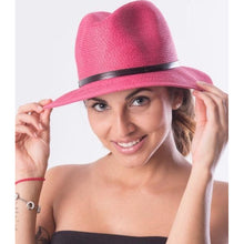 Load image into Gallery viewer, Foldable Borsalino Hat - Fuschia