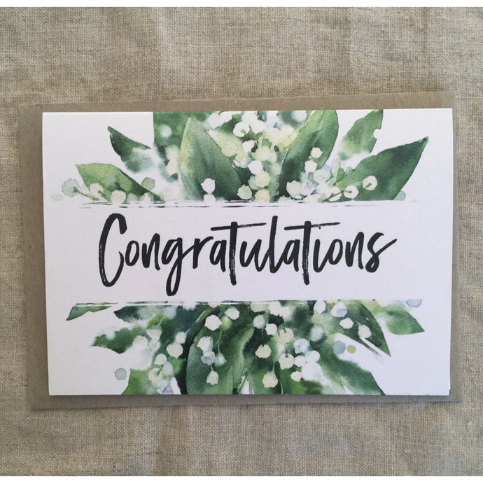 Congratulations Lily of the Valley Card