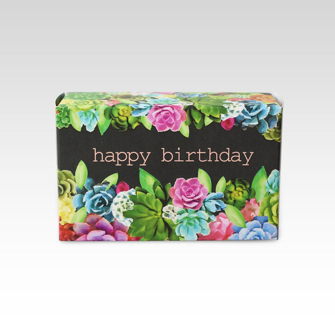 Happy Birthday Succulent Design Soap