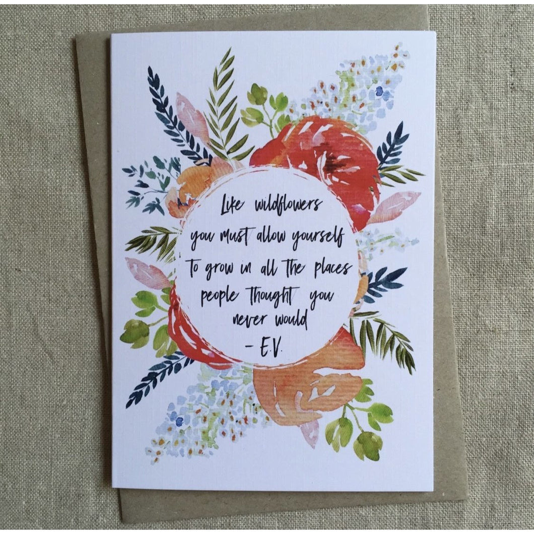 Wildflower Quote Card