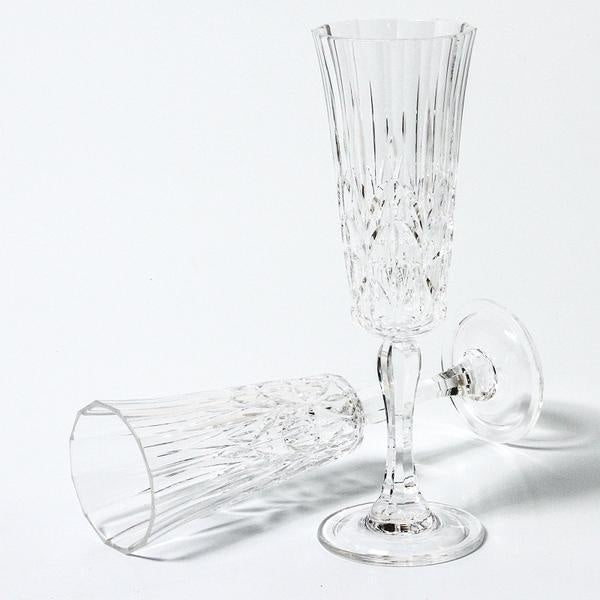 Acrylic Champagne Flute - Clear