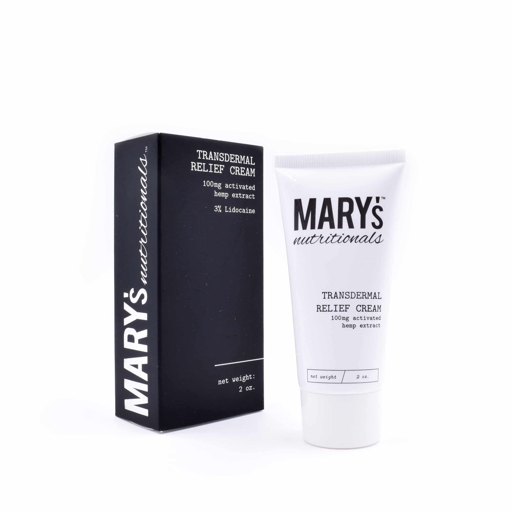 Mary's - Transdermal Relief Cream (100mg CBD + Lidocaine) - Mary's Nutritionals - The CBD Market - Buy CBD Online