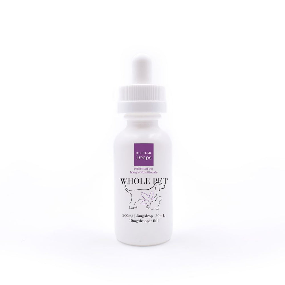 Whole Pet - Pet Drops - Regular Strength (300mg CBD)