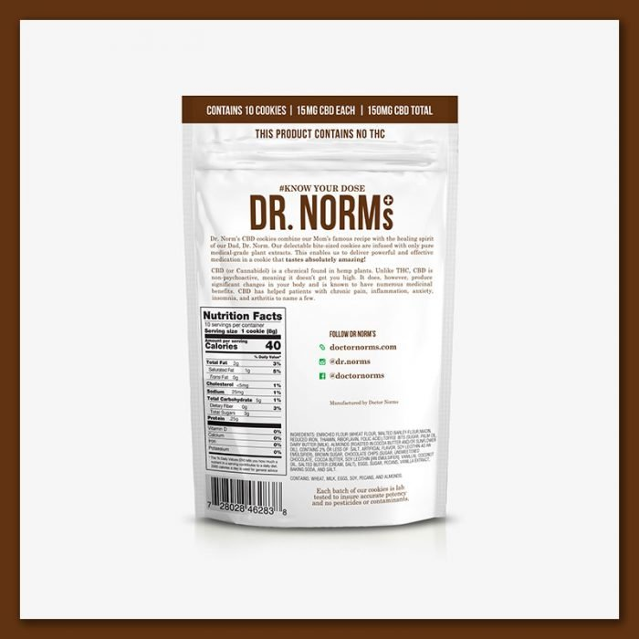 Dr. Norm's - Chocolate Chip Cookies (150mg CBD) - The CBD Market