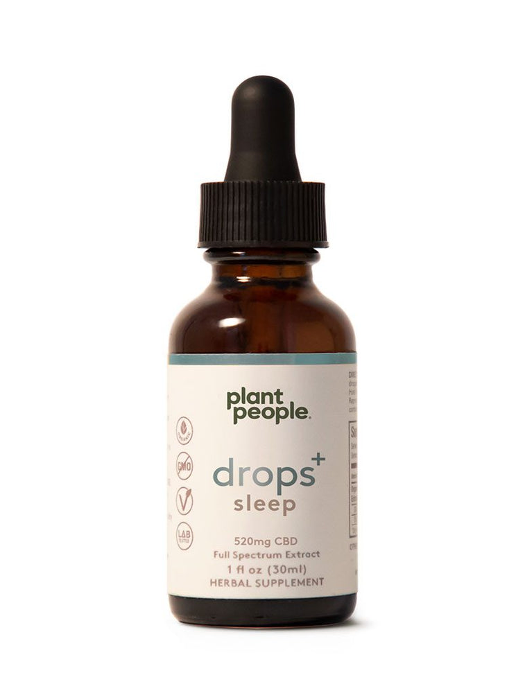 Plant People - Drops+ Sleep (520mg CBD) - The CBD Market