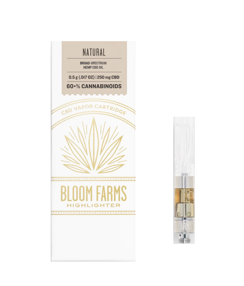Bloom Farms - Natural Vape Cartridge (250mg CBD)