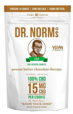 Dr. Norm's - Peanut Butter Chocolate Cookies (150mg CBD)