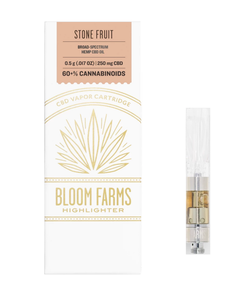 Bloom Farms - Stone Fruit Vape Cartridge (250mg CBD)