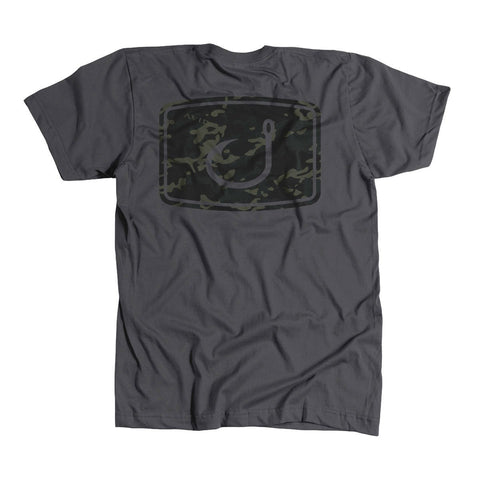 Black Camo T-Shirt - Charcoal Heather
