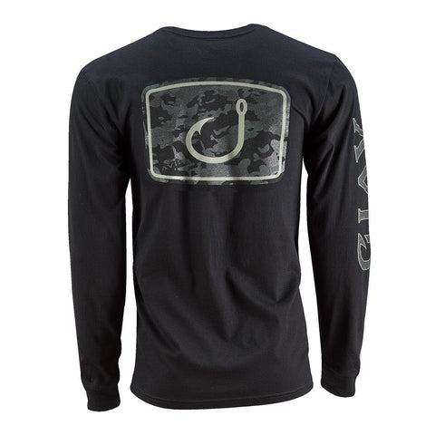 Black Camo Long Sleeve Shirt - Black