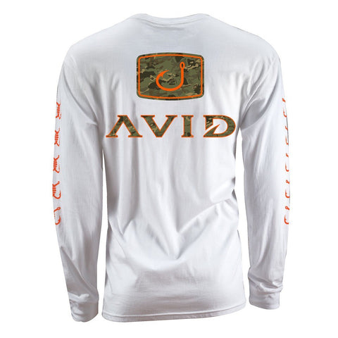 Camo Fill Long Sleeve Shirt - White