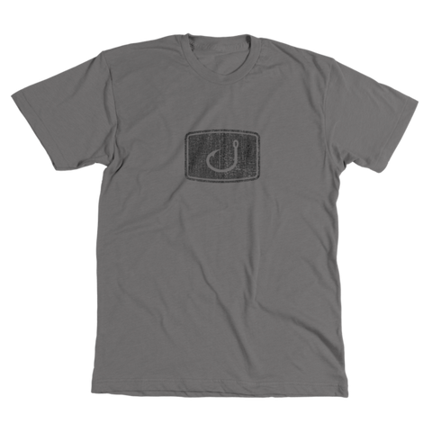 Distressed Iconic Fishing T-Shirt - Graphite Heather