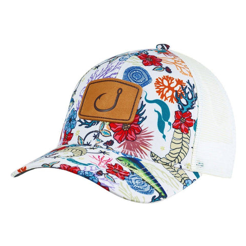 Fish Floral Trucker Hat